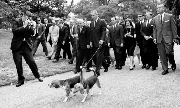 Lyndon B. Johnson y sus Beagles
