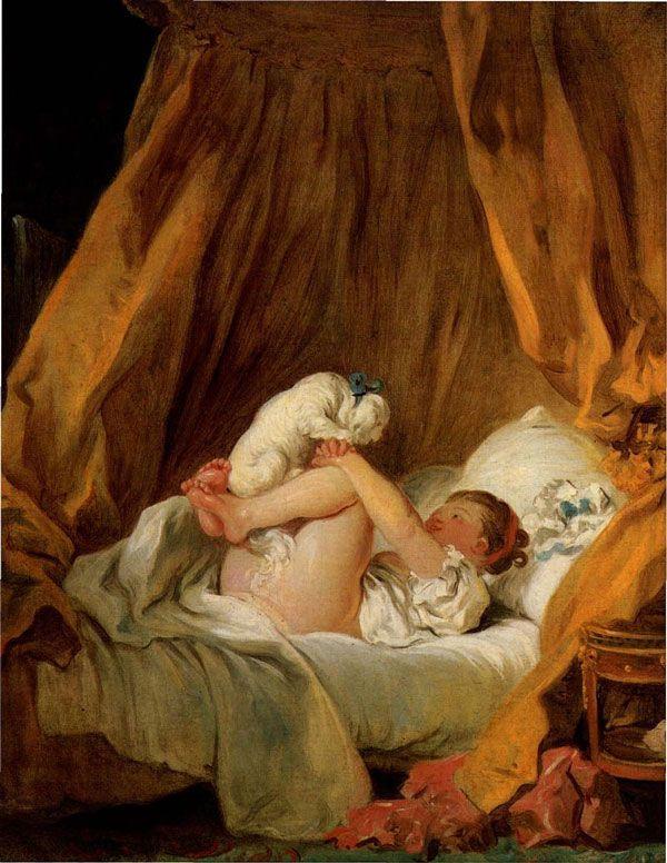 Fragonard pintura bichon frise